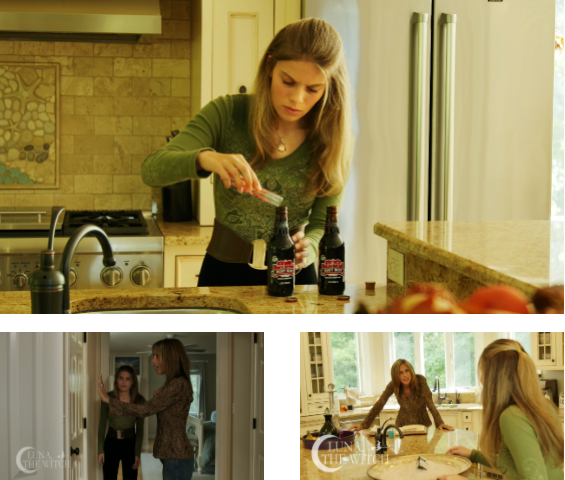 First look of pics of Luna, the Witch.  Shown are real-life mother and daughter Wendy Hartman and Alexa Hartman.